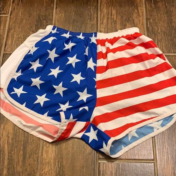 boa Pants - B.O.A. American flag shorts